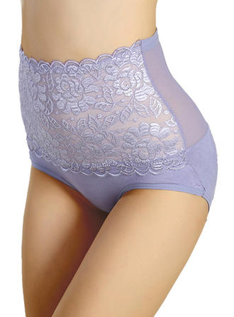 Lace Jacquard Brief Panty