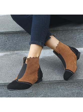 Női Szarvasbőr Chunky sarok Csizma cipő