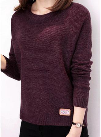 Plain Round Neck Sweaters