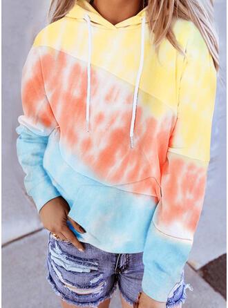 Trozos de color Corbata Manga larga con capucha