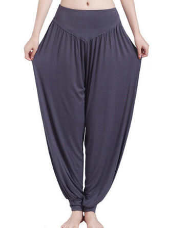 Solid Color High Waist Sports Pants