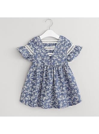 Bébé & Bambin Fille Imprimé floral Coton Robe Manches Courtes
