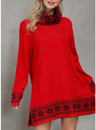 Impresión Cuello Redondo Suéteres