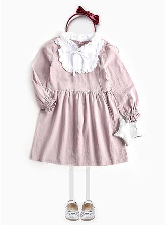 Dziewczyny Okrągły Dekolt Niejednolita całość Nieformalny Ładny Sukienka