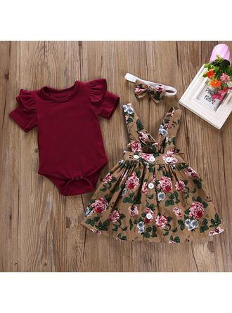 Bébé & Bambin Fille Imprimé floral Coton Jupe,Body,Bandeau Définir La Taille