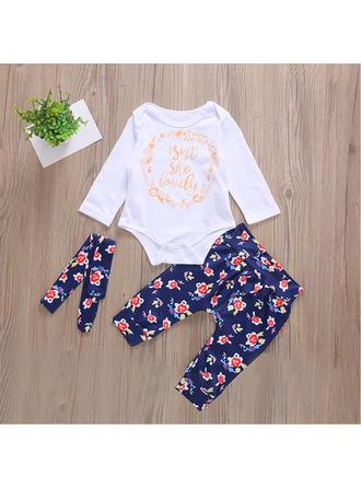 Bébé & Bambins Imprimé floral Coton Pantalon,Body,Bandeau Définir La Taille