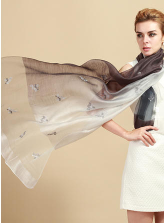Blommig Hals/attraktiv/mode Ull/Silke Halsduk
