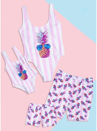 Striped Print Family Matching Swimsuit