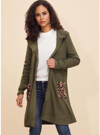 Cotton Blends Long Sleeves Plain Blend Coats Wide-Waisted Coats