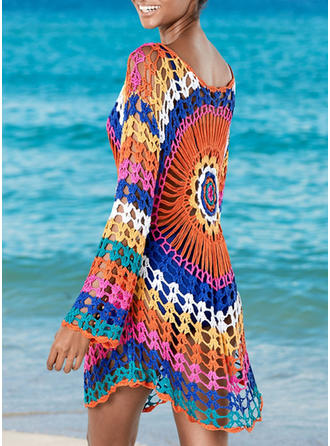 Floral U Neck Bohemian Cover-ups Swimsuits