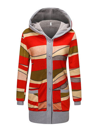 Cotton Color Block Patchwork Hoodie