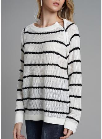 Striped Round Neck Sweaters