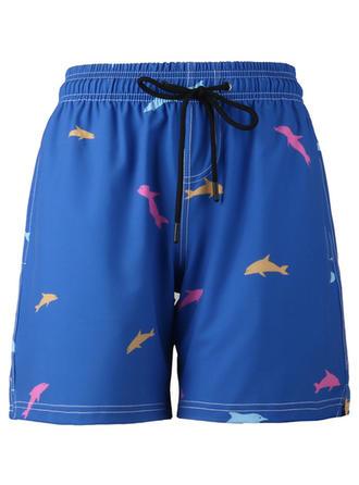 Mænd fisk Board shorts badedragt