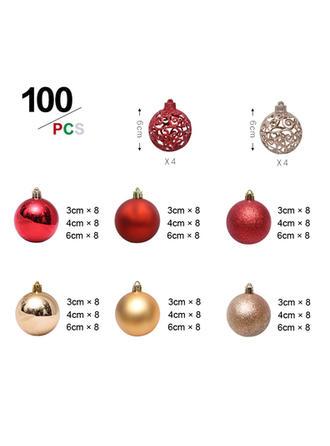 boldog Karácsonyt 100 PCS PVC Karácsonyi dekoráció Labda (100-es készlet)