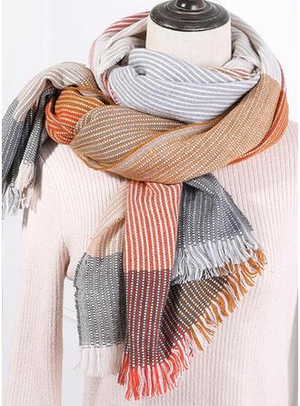 Plaid/Color Block efterspurgte/Koldt vejr Halstørklæde