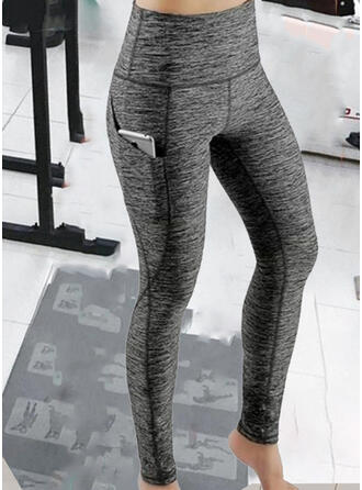 Solid Patchwork Sexy Sportslig Yoga leggings