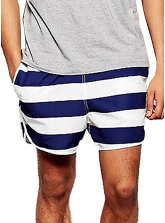 Men's Stripe Swim Trunks Swimsuit