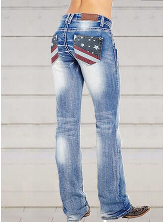 Shirred Plus Size Long Elegant Sexy Denim & Jeans