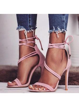 Dla kobiet PU Obcas Stiletto Sandały Czólenka Otwarty Nosek Buta Z Pozostałe obuwie