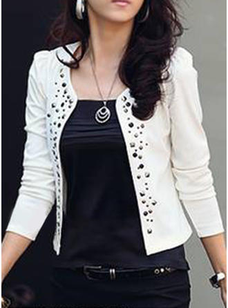 Cotton 3/4 Sleeves Patchwork Blazer