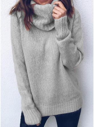 Mohair Polotröja Solid färg Tröjor