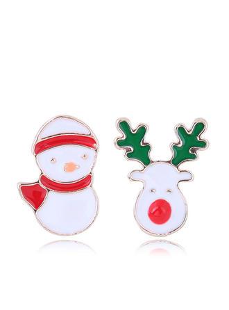 Snowman Alloy Earrings Christmas Jewelry