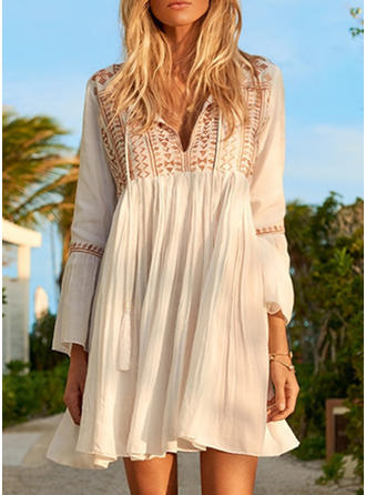 Floral Round Neck Fashionable Cover-ups Swimsuits