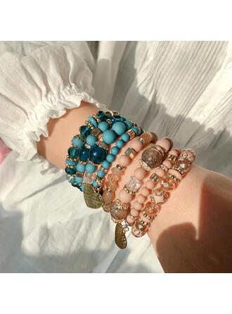 Stilvoll Legierung Kristall Armbänder