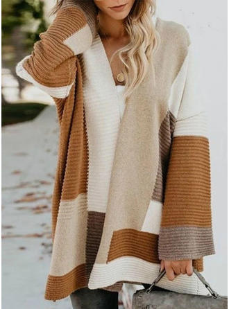 Color Block Ribbed Chunky knit Cardigan