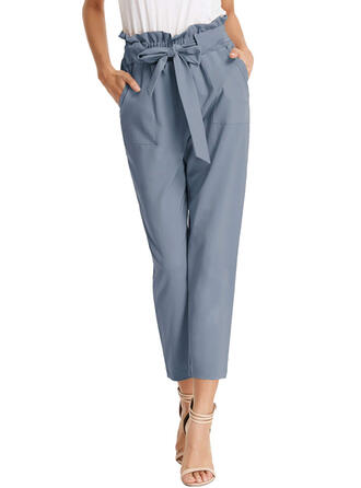 Solid Capris Casual Solid Pants