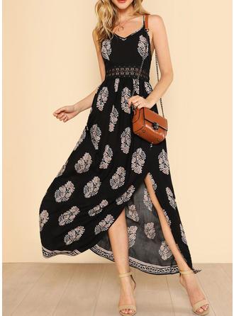 Cotton With Print Maxi Dress