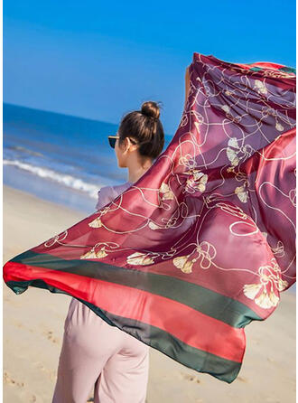 Geometric Print fashion Silk Scarf