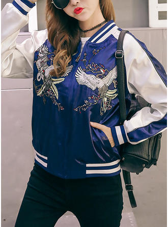 Cotton Long Sleeves Embroidery Jackets