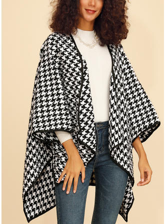 Polyester 3/4 Sleeves Print Cardigans