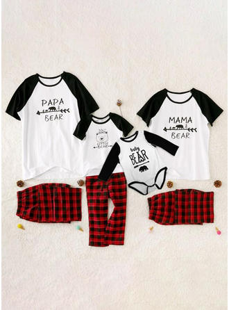 Letter Tenue Familiale Assortie Pyjamas
