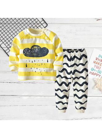 Bebé Bambino A Righe Cotone Pantaloni,Accostare Impostare Size