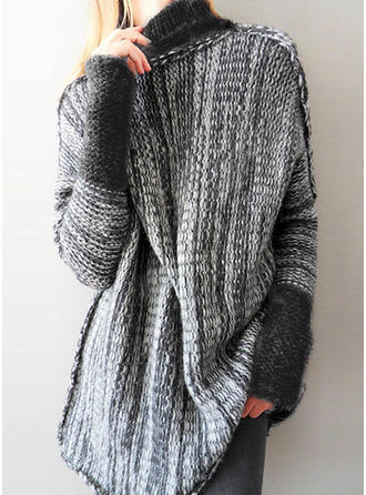 Acrylic Turtleneck Ribbed Sweater Dress