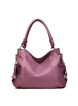 Einfarbig Schultertaschen/Hobo-Taschen