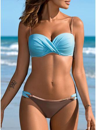 Hochdrücken Träger Sexy Bikinis Bademode