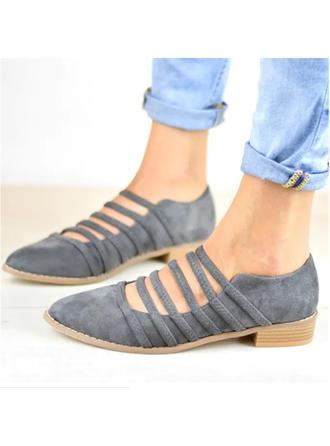 Mulheres PU Sem salto Sem salto com Aplicação de renda sapatos