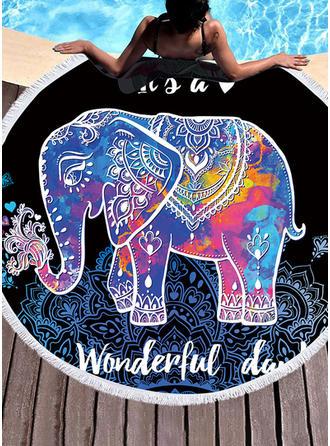 Słoń okrągły/atrakcyjny ręcznik plażowy