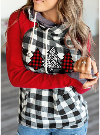 Grid Leopard Lange ærmer Jule sweatshirt