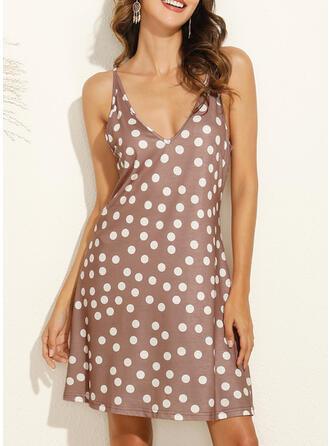 PolkaDot Sleeveless Shift Above Knee Casual/Vacation Slip Dresses (199295765)
