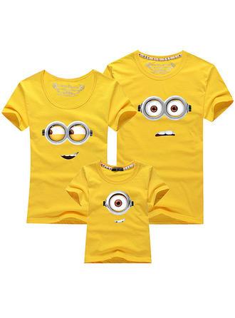 Kreskówka Wydrukować Rodzinne Dopasowanie T-shirty