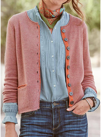 Solid Chunky strik Cardigan