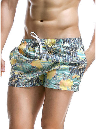 Men's Floral Colorful Swim Trunks Swimsuit