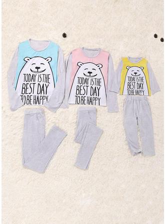Niedźwiedź Wydrukować Rodzinne Dopasowanie Piżama
