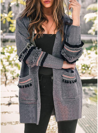 Cotton Long Sleeves Print Cardigans