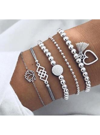 Stilvoll Anhänger Valentinstag Legierung Frauen Damen Armbänder (Satz von 5 Paaren)