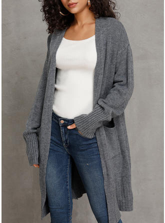 Solid Ribbed Pocket Cardigan